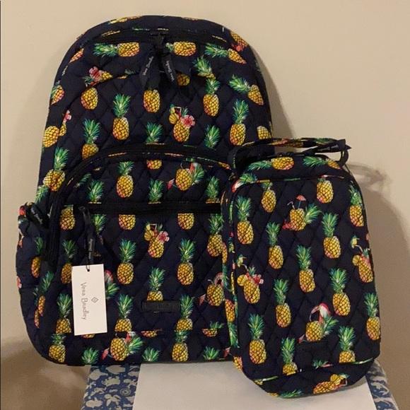 Vera Bradley bundle backpack and lunchbox